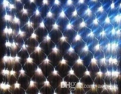 white 120 led net lights christmas decorative lights led lights 10pcslot - Led Net Christmas Lights