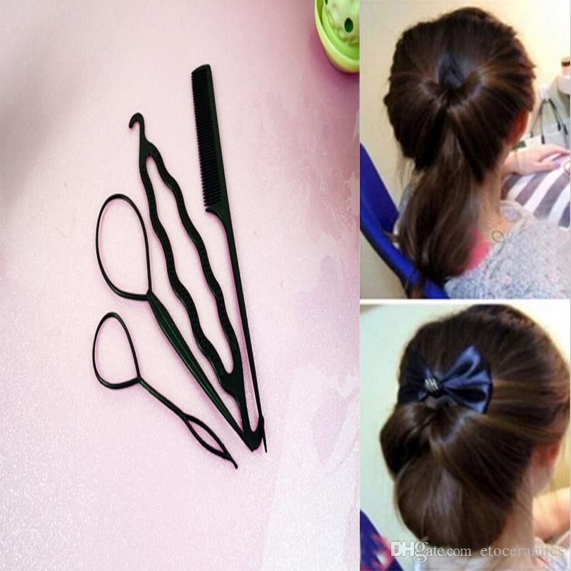 Hair Twist Styling Clip Stick Bun Maker Braid Tool Hair Accessories New Fashion =