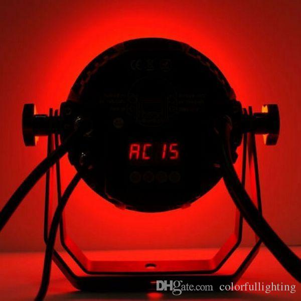 شحن مجاني ضمان سنتان 18X15W صامت IP65 للماء RGBAW 5in1 LED الاسمية ضوء في الهواء الطلق الصمام مصباح الاسمية