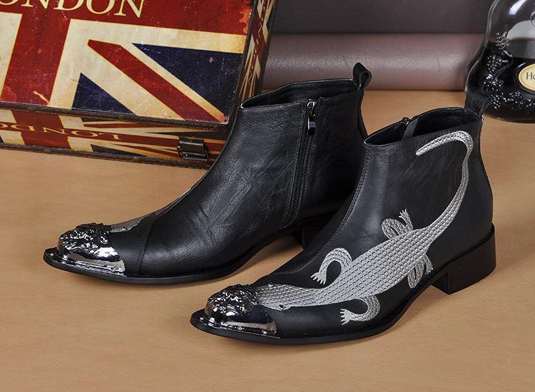 New Leather Fashion Men Dress Boots Mens Fashion Martin Shoes