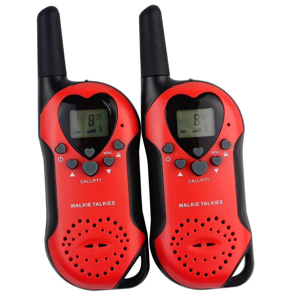 2PCS New Red Radio Walkie Talkie пара Т-6 0.5W УВЧ Европа Частота 446MHz LCD VOX шумоподавление Мода Two Way Радио Интерком A7013A