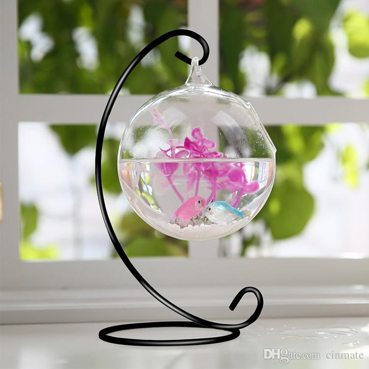 Ornament Display Stand,Iron Hanging Stand Rack Holder for Hanging Glass Globe Air Plant Terrarium,Witch Ball,and Wedding Home decor