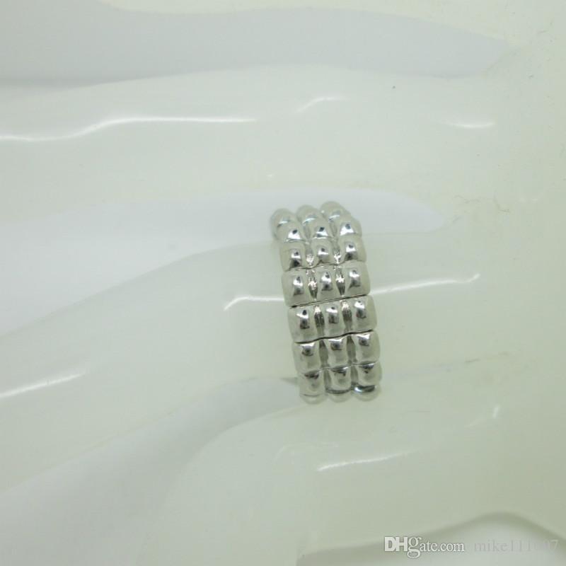 NOOSA serisi elastik halka DIY alaşım parçaları ayarlanabilir düğmesi ile Hollanda düğmesi halka yapış alt DIY Takı