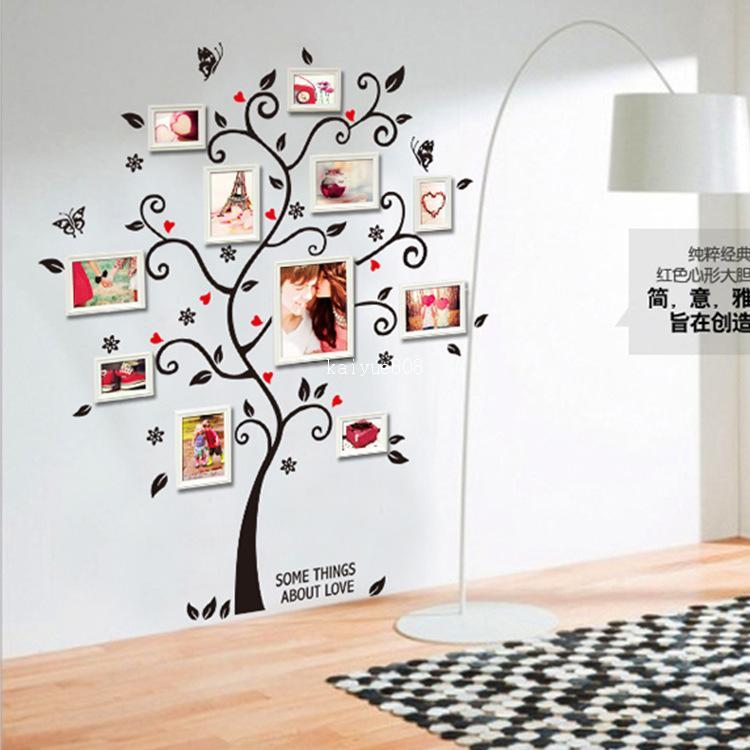 Ay6031 New Arrival Large Colorful Family Photo Frame Wall Decal