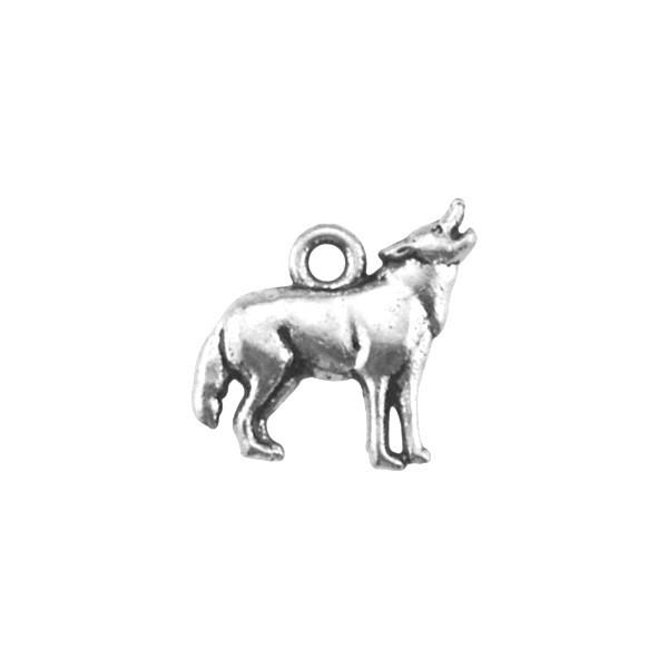 50Pcs Zinc Alloy Animal Wolf Charms Jewelry For Making