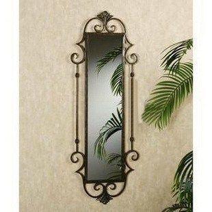 European Style Wrought Iron Wall Bathroom Mirror Frame Rectangular Metal Body Decoration Dress Dressing Decorative Light Switches
