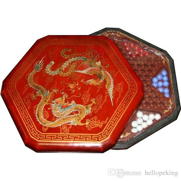 Vente chaude Nouveau jeu de dames chinoises - Dragon peint rouge et Phoenix