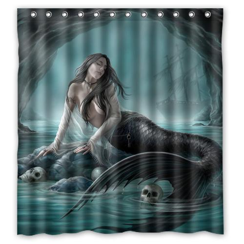 2018 BAJ Vintage Mermaid Custom Shower Curtain 66 X72 Waterproof Fabric For Bathroom From Littleman913 402