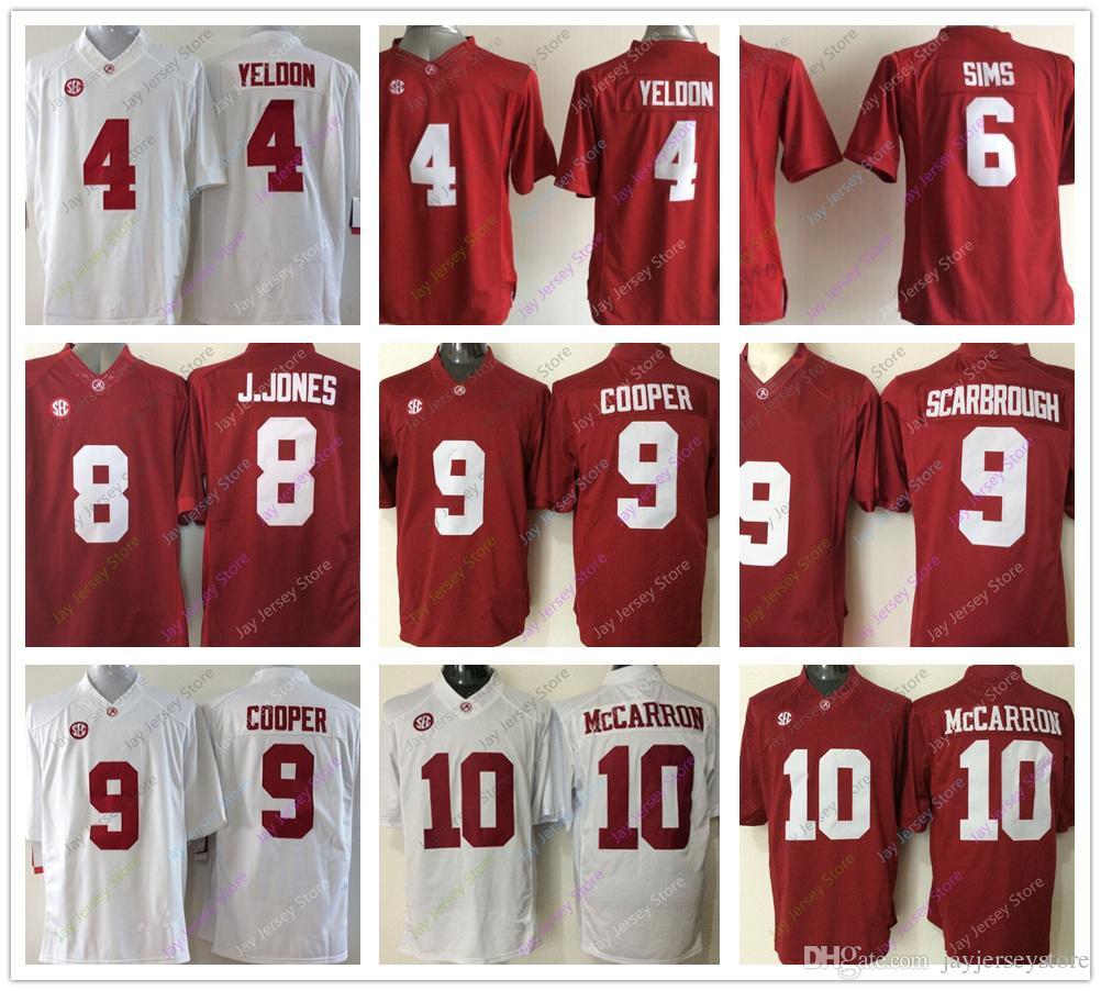 3362d9c76 College Alabama Crimson Tide Jerseys 4 T.J. Yeldon 6 Blake Sims 8 ...