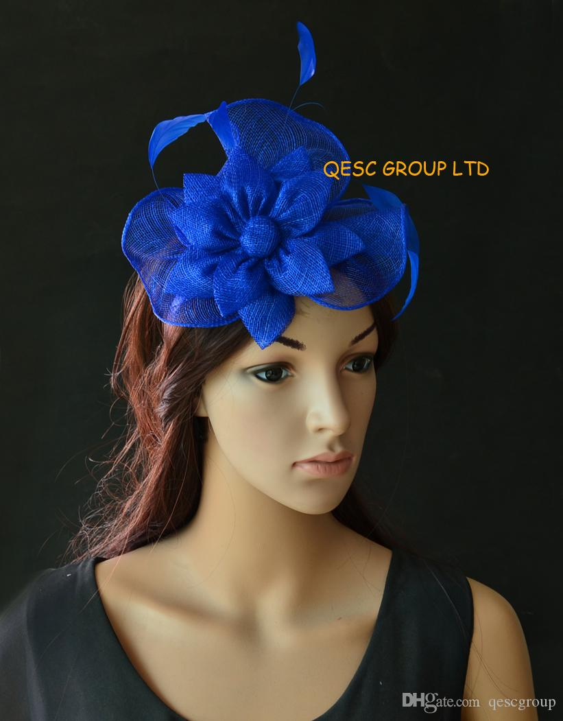 Royal Blue Small Sinamay Fascinator Kentucky Derby Hat For Tea Wedding  Races. Veil Hats Vintage Pillbox Hats From Qescgroup ef06d1fe892