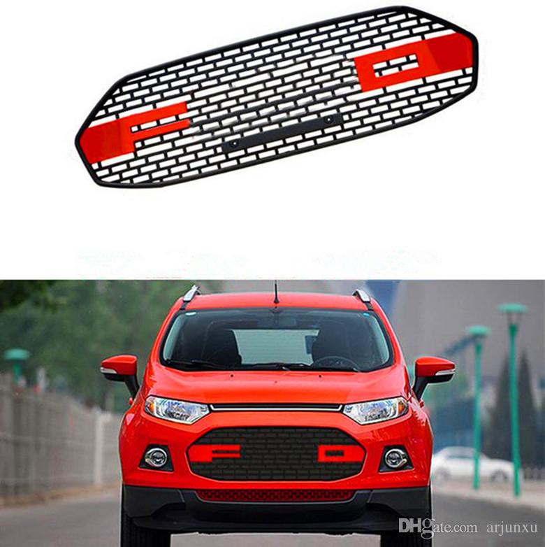 ABS Chrome Car front bumper Mesh Grille Around Trim Racing Grills Fit For Ford Ecosport 2015