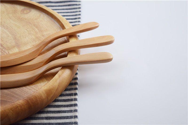 Messer-Art Schima Superba hölzernes Japan-Butterverteiler-Marmelade-Abendessen-Käse-Messer-Gebäck-Spachtel-Tabeware ZA5486