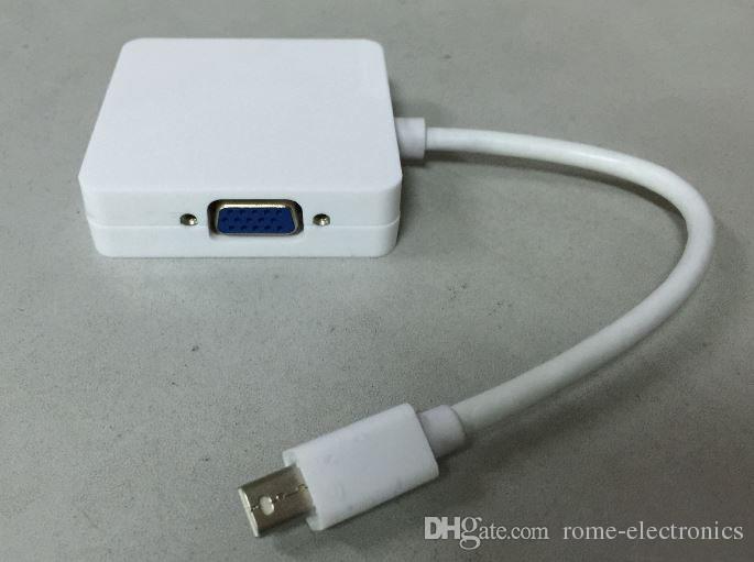 3 1 Mini DP DisplayPort VGA HDMI Apple MacBook Pro Hava mini iMac için DVI Kablosu Adaptörü Dönüştürücü