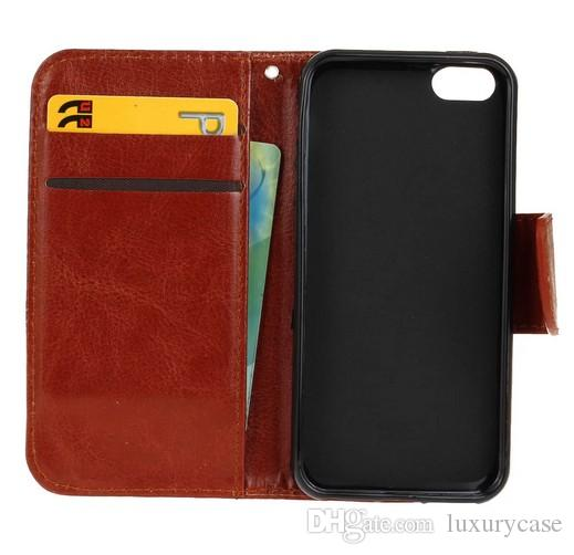 Hot Sale For Iphone 5SE Case Cover Luxury Original Cute Hard Plastic Cover Flip Leather Case For Apple Iphone 5SE