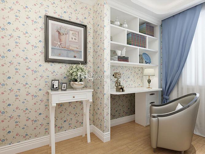 New 3D Wallpaper Home decor camera da letto decorazione Non tessuto a  parete rotolo di carta fiore