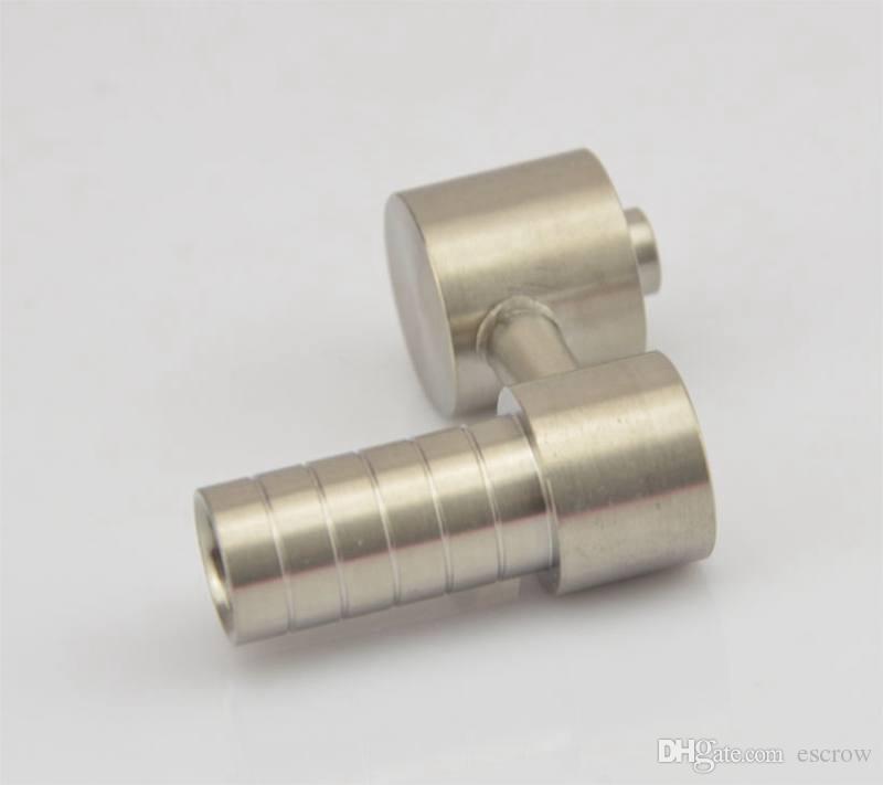 Cheap 10mm titanium domeless nail new honey buckets titanium nail glass smoking pipes