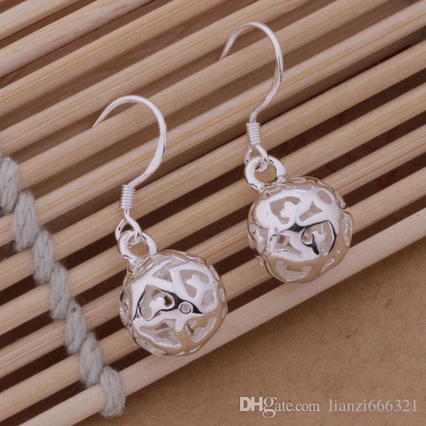 Moda ładna eksplozja Modele w Europie i Ameryce Moda SHING HOLlow Ball 925 Srebrne Kolczyki Srebrne Kolczyki 1237