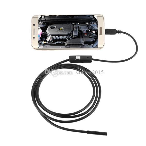 5.5mm lens Mini USB Endoscope camera with 3.5M 5M 10M cable Waterproof USB Borescope Video Inspection cameras for Android Phone PC