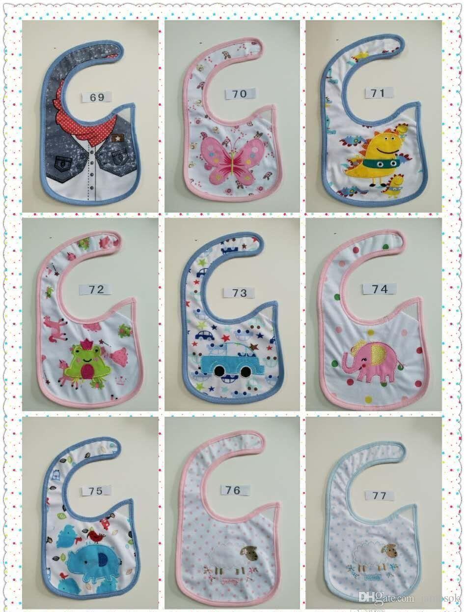 Salopette in cotone neonato Saliva Asciugamani Bavaglino neonato Impermeabile Neonato Accessori cartoni animati 94 stile c021