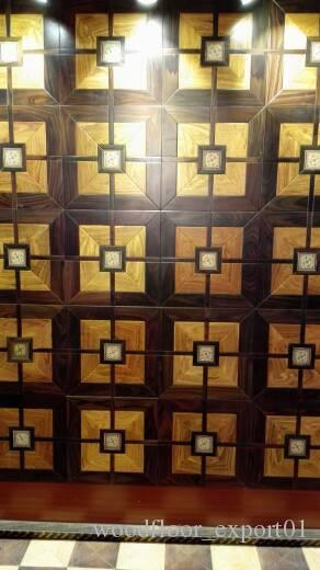 2018 Checkered Floor Fight Wood Floor Black W Medallion Asian Pear