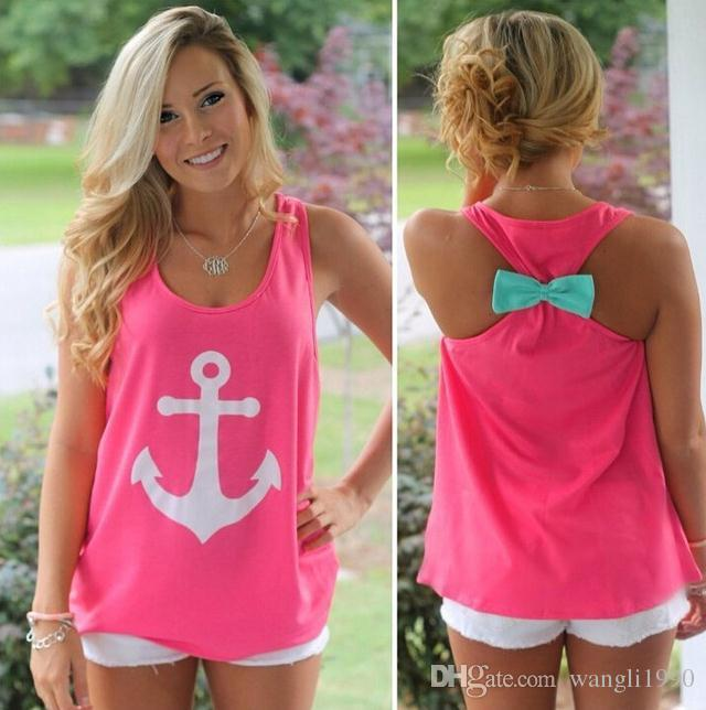 Online Cheap Hot Anchor Basic Tank Tops Graphic Tee For Women Brand Designer  Sexy Ladies Sleeveless Bow Back T Shirt Summer Round Neck Vest By  Wangli1990. Online Cheap Hot Anchor Basic Tank Tops Graphic Tee For Women