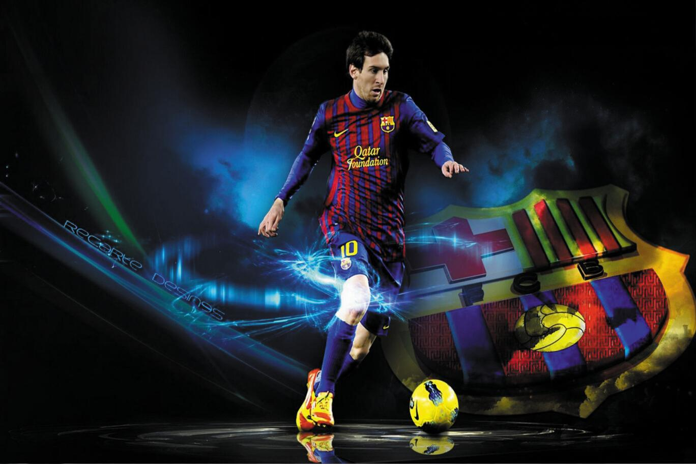 Home Decor Wholesale Online 24x35inch Football Star Lionel Messi Poster Hd Home Wall