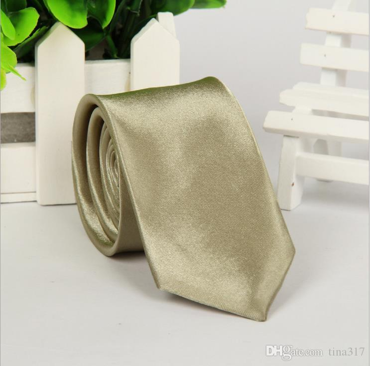 New Men's Polyester silk ties Slolid color Satin Plain Neckties Party Wedding ties for men Neck Ties Sufficient stock C002