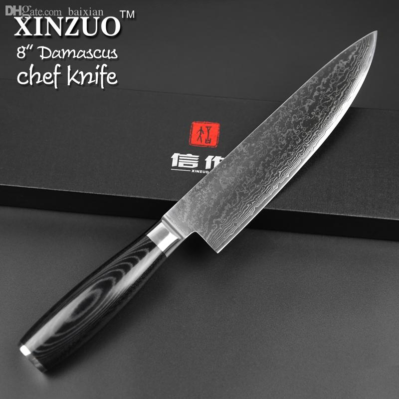 Exceptionnel Wholesale Cocx 8 Chef Knife 73 Layers Damascus Kitchen Knives Japanese Vg10  Cleaver Knife Cooking Tools Micarta Handle Black Friday Kitchen Knives  Brands Of ...