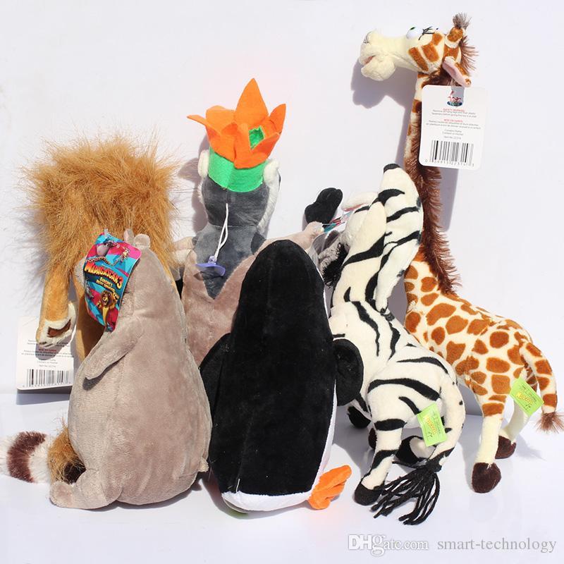 Madagascar Alex Marty Melman Gloria jouets en peluche singe zèbre lion girafe hippopotame pingouin jouets en peluche 25cm /