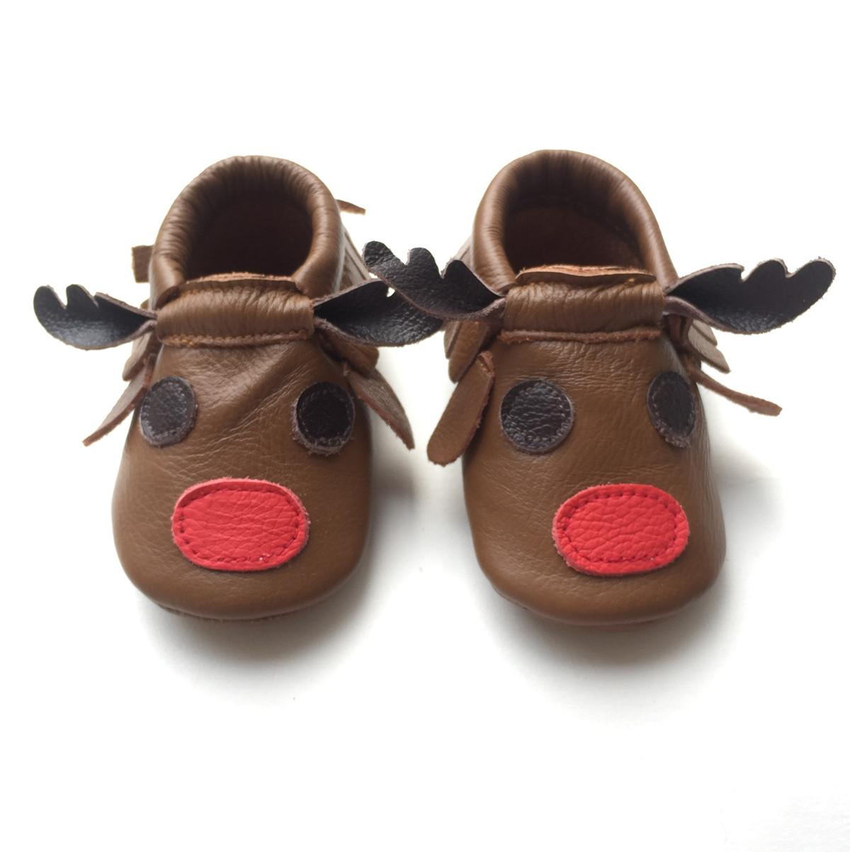 bfe12271f 2019 2015 Christmas Baby Moccasins Reindeer Moccasins Soft Leather Baby  Fringe Shoes Fashionable Toddler Shoes Ins Hot Product From Flyinghihi