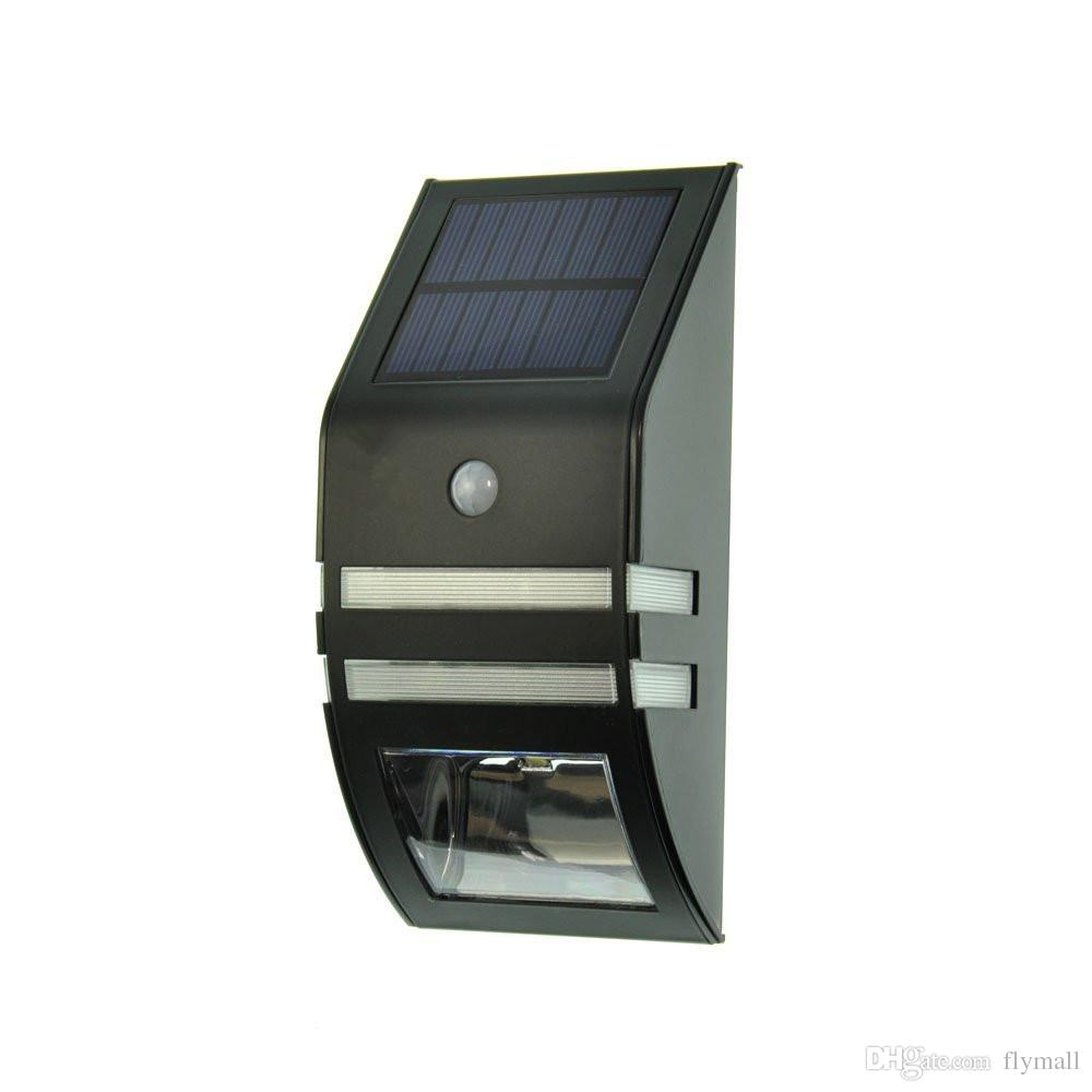 Solar Powered Motion Sensor Lamp Light Street Light Security Light For Outdoor Patio Deck Yard Garden Home Driveway Stairs Wall Pathway