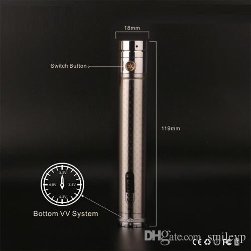 GS 2200mAh EGO II Twist battery variable voltage 3.3v-4.8v e cigarette battery for 510 ego thread atomizer