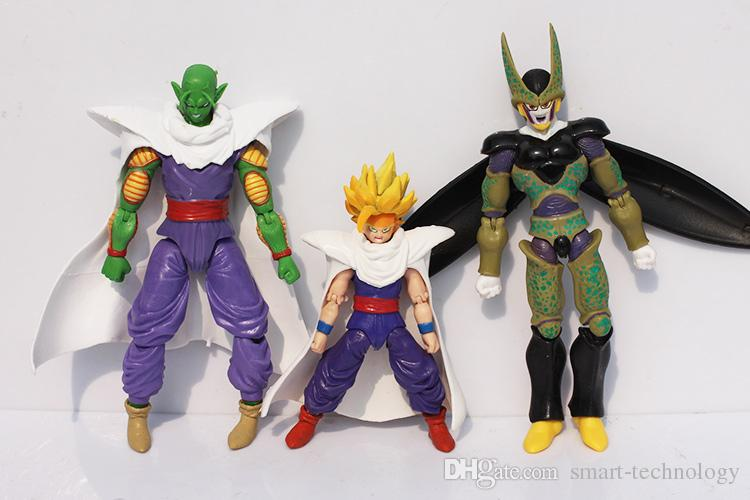 Dragon Ball Z Joint Movable Vegeta Piccolo Son Gohan Son Goku Trunks PVC Action Figure Toys