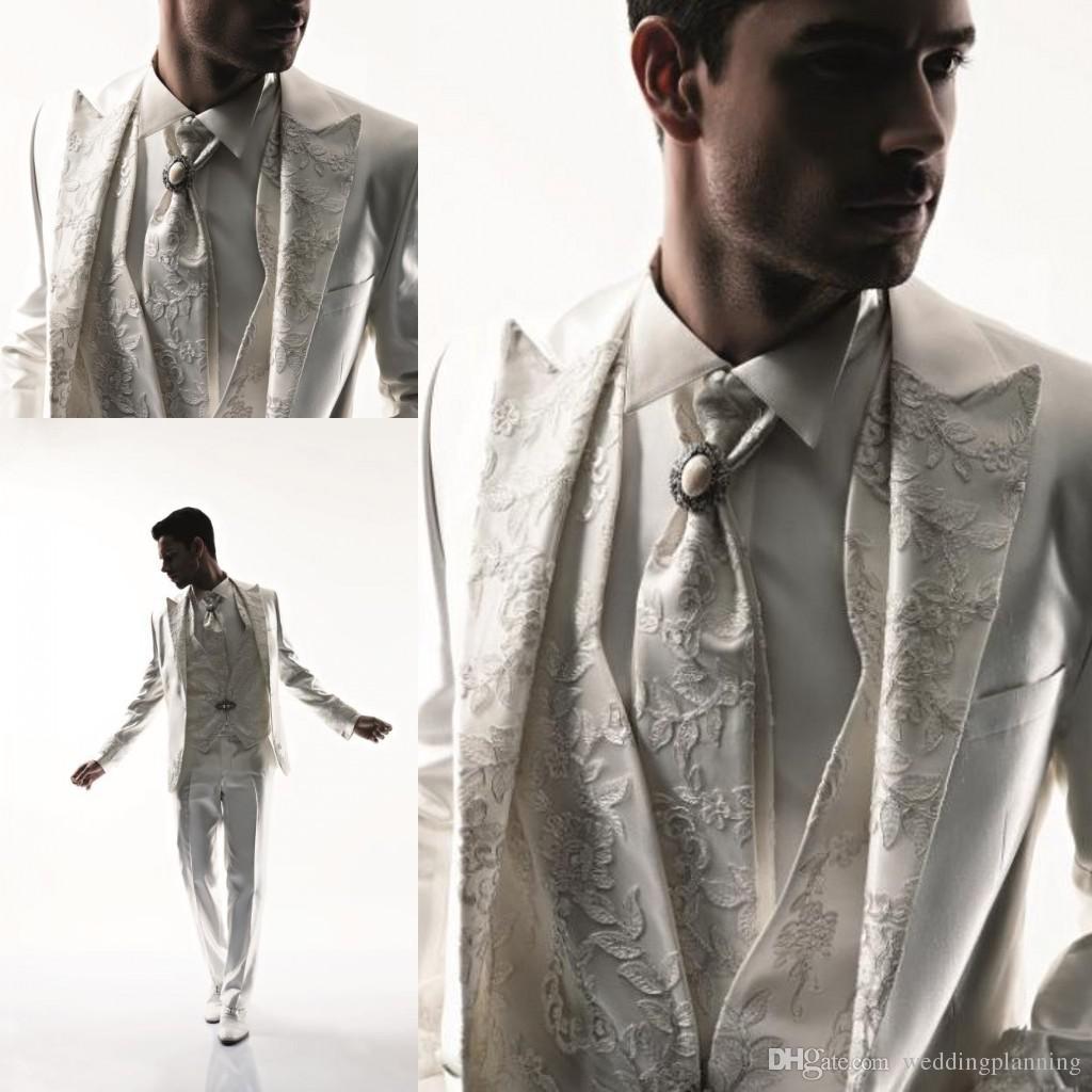 2017 Western Style Men Tuxedos Business Suit Brand Boss Dress Suit ...