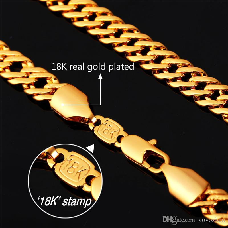 Altın Venitian Zinciri 18 K Damga Kadın Erkek Takı Gül Altın / Platin Kaplama 2015 Yeni Moda Zincir Bilezik