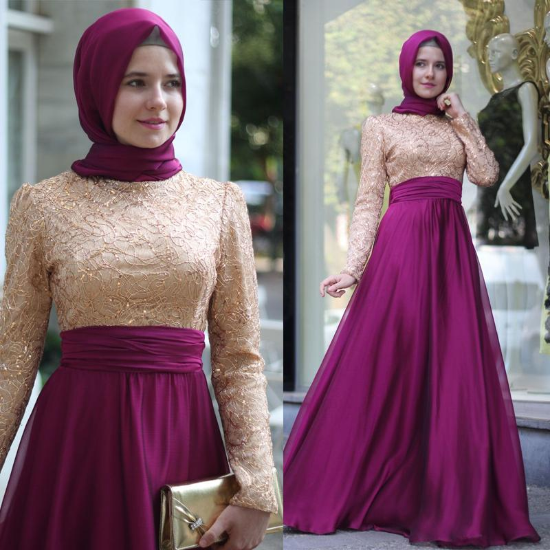 Arabia Women Clothing Islamic Muslim Evening Dresses With