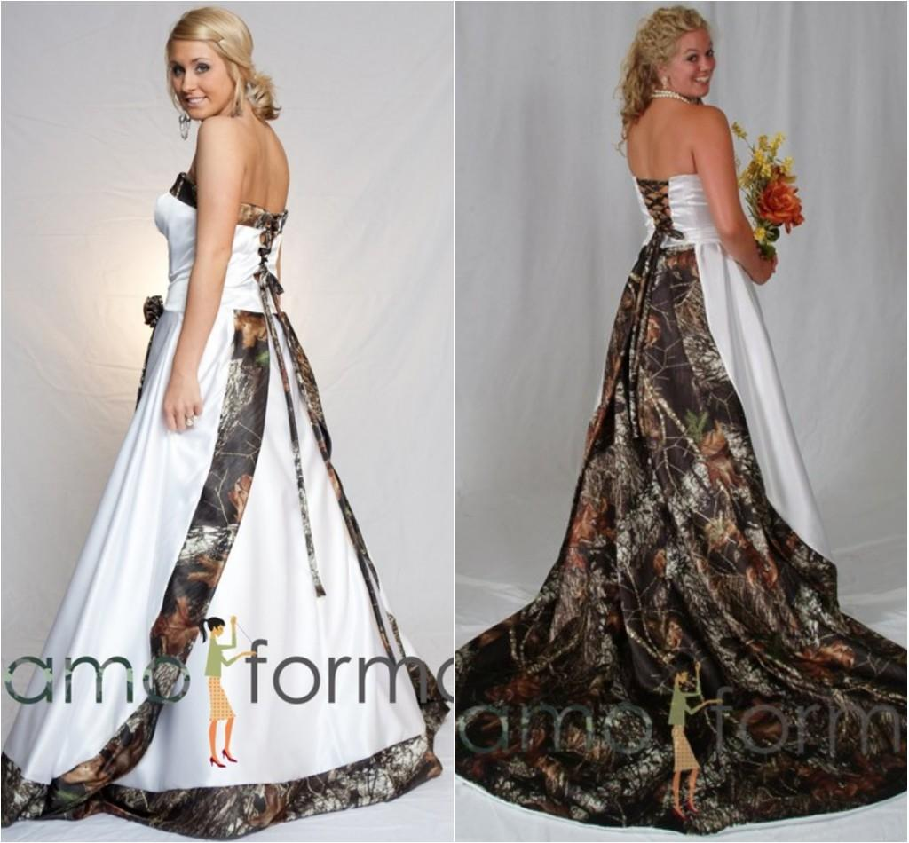 Camo Wedding Dresses: Discount Camo Wedding Dress With Detachable Train