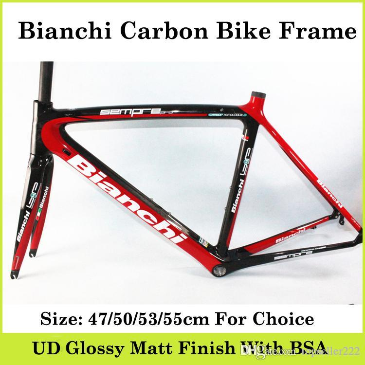 Bian Chi Carbon Bike Frame Black Red Full Carbon Fibre Frame Ud