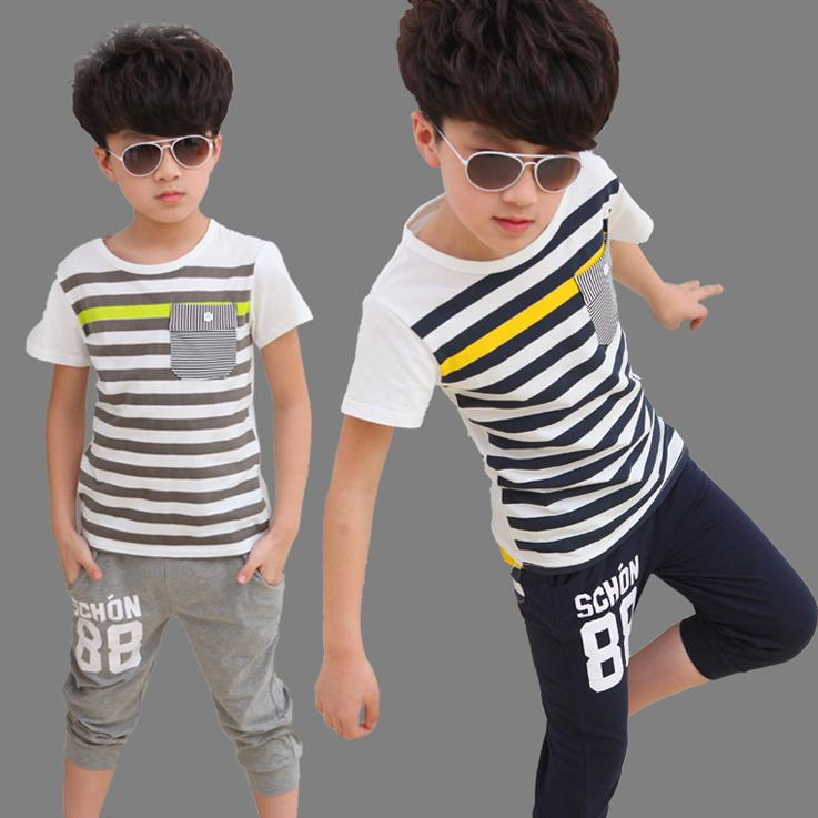 065a7eb3db9 2019 Korean Kids Clothing Sets T Shirt Harem Pants Boys Suits Clothes Girls  Short Sets Striped Boutique Outfits Children S Tracksuits Wholesale From ...