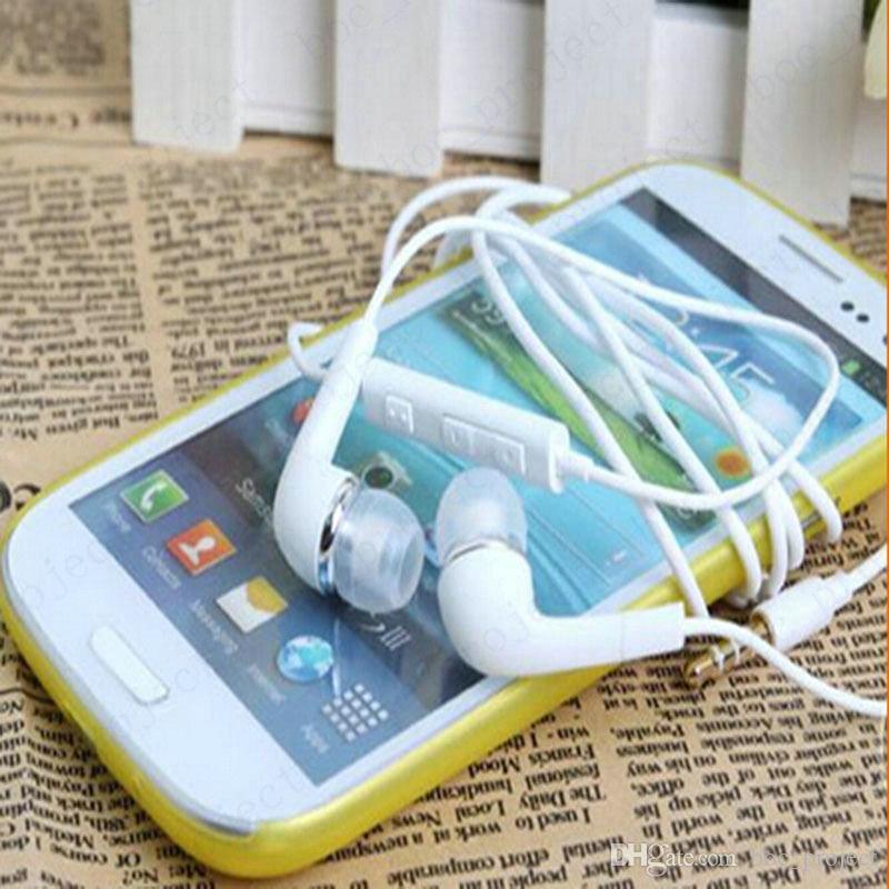 In-Ear stereo hörlurar 3.5mm hörlurs headset med mikrofon och fjärrkontroll för Samsung S6 Edge S5 S4 Note5 Note4 /