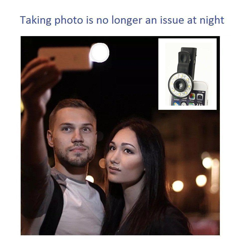 Clip Mini Spot Selfie Fill LED Light Portable Round Ring Flash for iPhone 6 Plus
