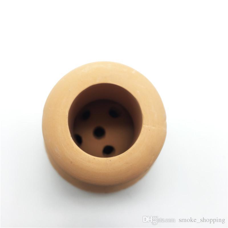 Nouveau Produit Chinois Traditionnel Fabrication En Céramique Bake Ball Rond Narguilé Bol À Fumer Accessoires Carbon Stove Heat Keeper Shisha Bol
