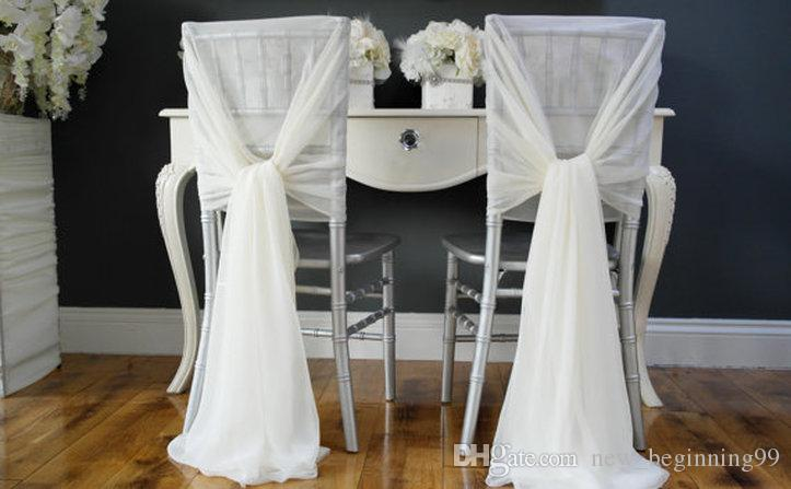Whole Sale Chair Covers Chiffon Colorful Wedding Supplies Simple Wedding Chair Sashes Classic Custom Made Beautiful