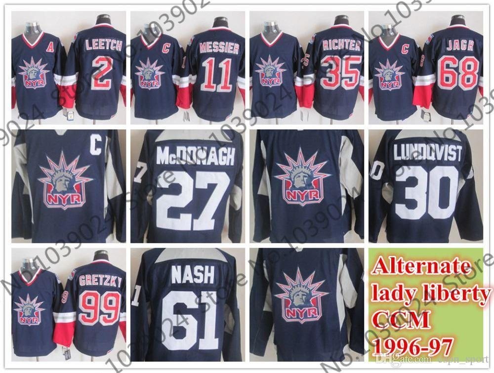 Großhandel 2015 1996 97 New York Rangers Alternative Dame Liberty CCM Jersey  Wayne Gretzky 70047338e