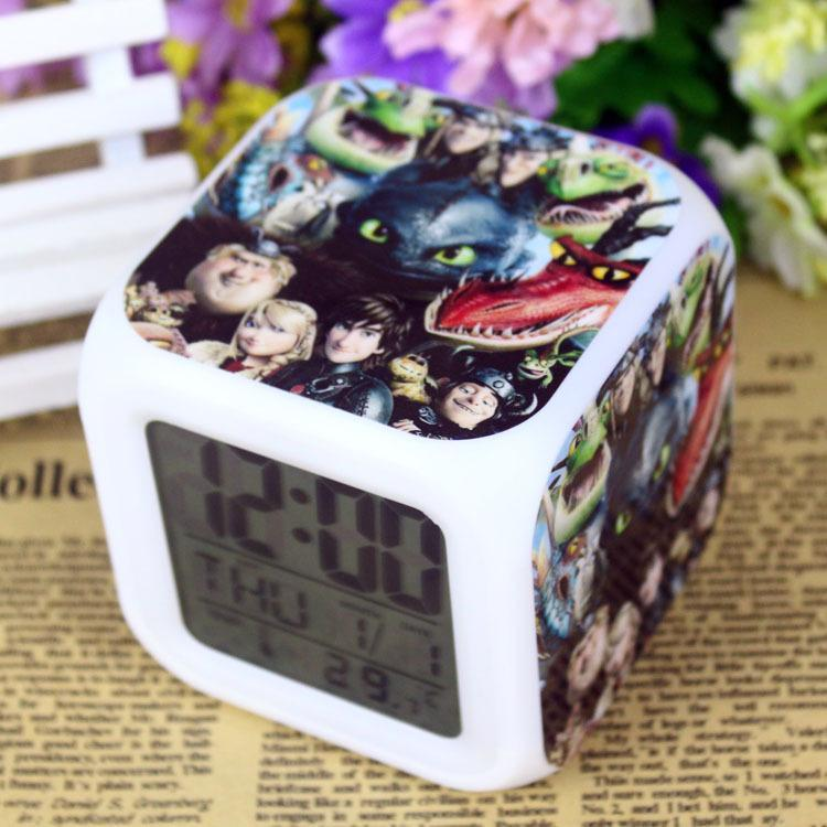 Coloring for Kids kids color changing alarm clock : 18 Styles How To Train Your Dragon Cartoon Table Clocks Changing LED ...