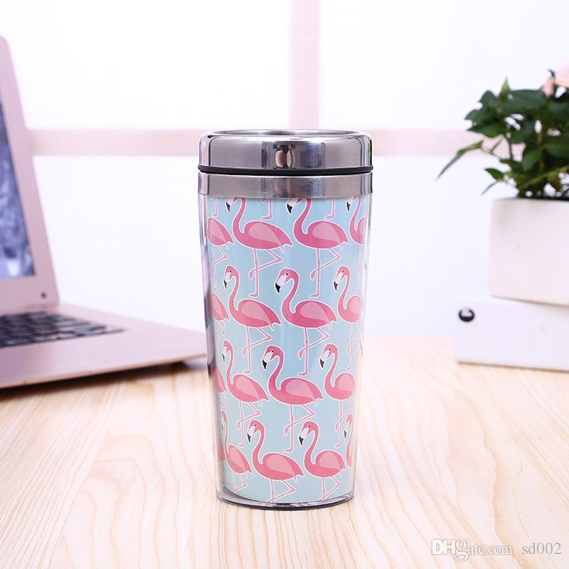 Stainless Steel Water Bottle Flamingo Mug Christmas Theme Insulated Cup For Children Gift Many Styles 12jx C R