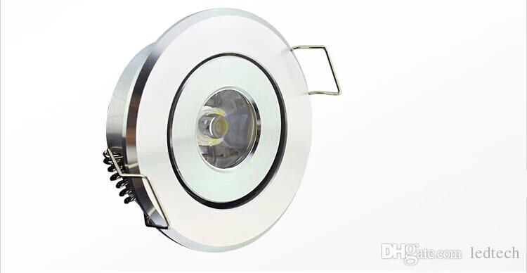 Envío gratis 2016 más nuevo de alta potencia LED mini círculo redondo Empotrable Techo abajo luz 1W 3W LED gabinete lámpara blanco aluminio