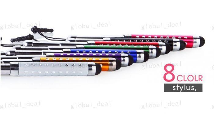 Retractable Beschlagene Kapazitive Stylus-Staub-Stecker-Schirm-Noten-Feder für alle iPad Handy Tablet PC