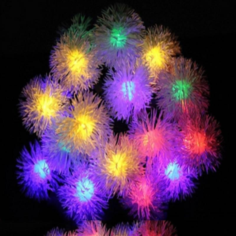 solar christmas lights 48m 20 led chuzzle ball outdoor solar string lights decorative christmas wedding