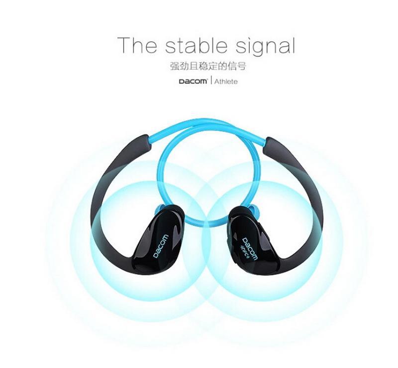 2016 Nuevo Dacom Atleta Auricular Bluetooth Inalámbrico Deporte Manos Libres Auriculares Estéreo Música Ear Hook Auriculares Fone De Ouvido con micrófono NFC